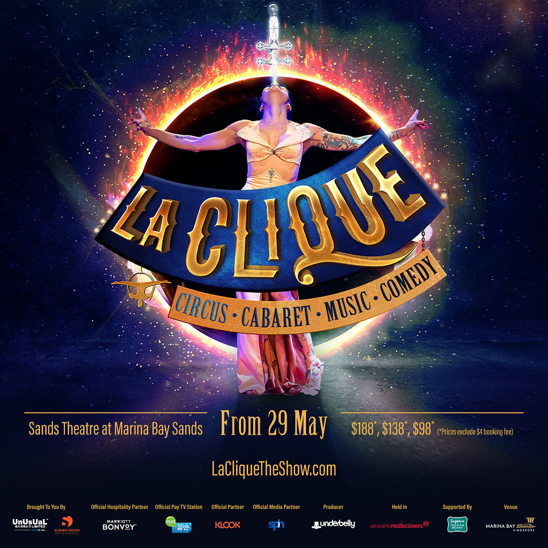 La Clique马戏团歌舞表5月起登陆本地舞台| 早报