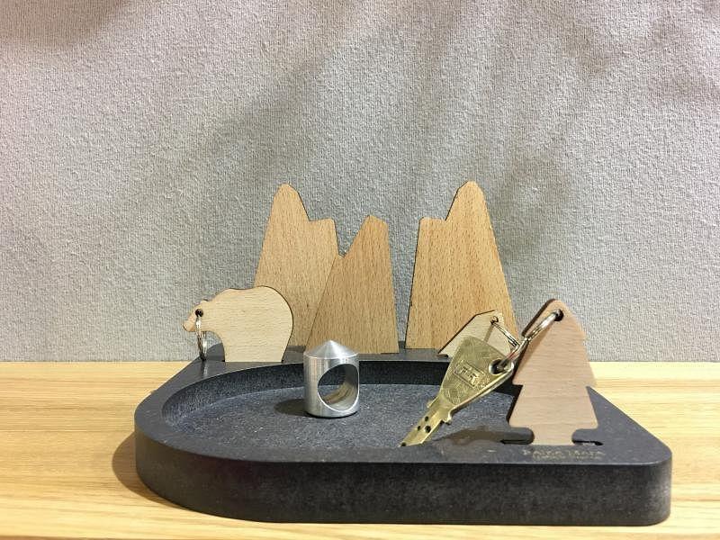 山水钥匙托盘