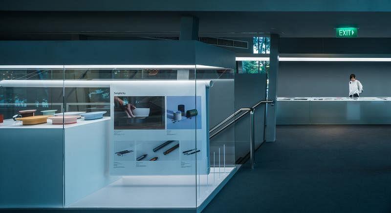 博物馆二楼展示340件2017年红点概念设计得奖作品。