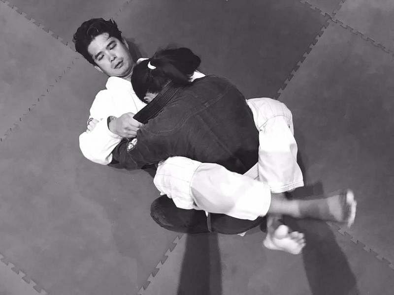 洪瑀声在本地也练习巴西柔术。