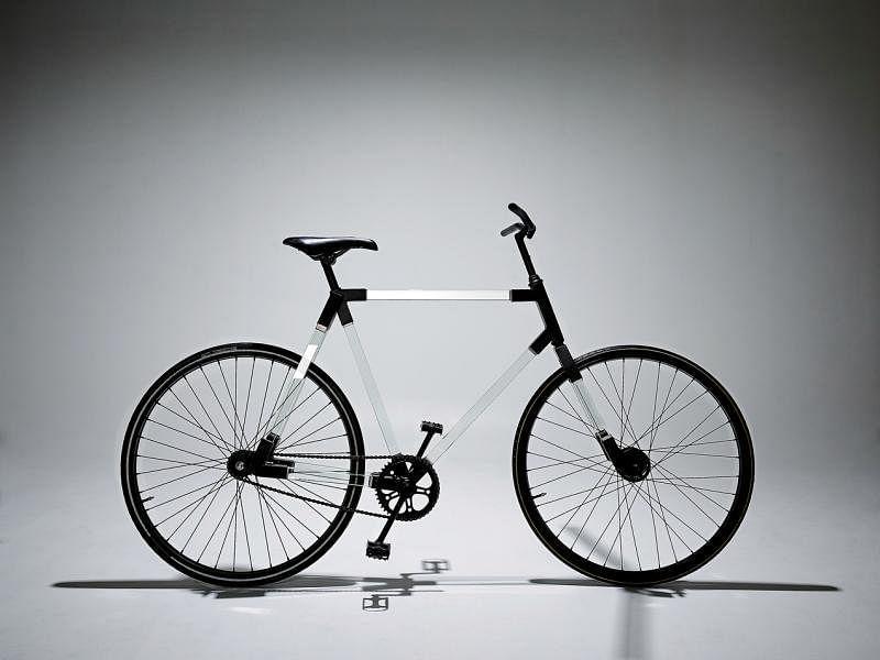 An&Angel使用玻璃打造脚踏车,叫设计迷惊为天人。