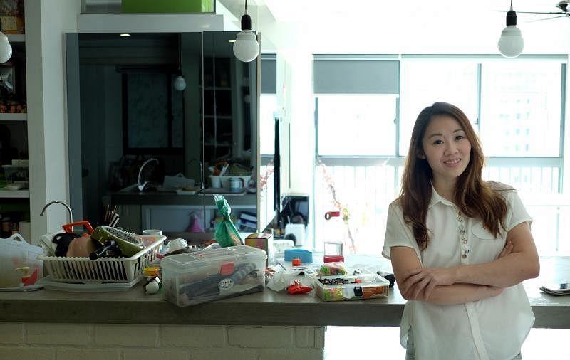 黄颖庄在家里厨房制作各式各样的便当,拍照放上网,精致的作品吸引许多粉丝。她今年投入全职食物设计的工作。