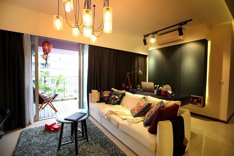 通透的采光是保持客厅开阔的必要手段。