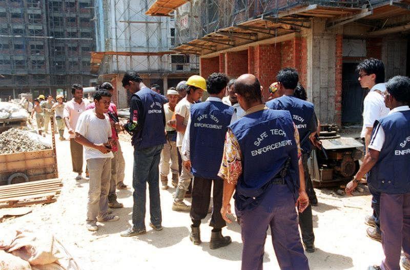 意外发生后,75人到巴沙尔工作的工地进行了五小时的突击检查。(受访者提供)