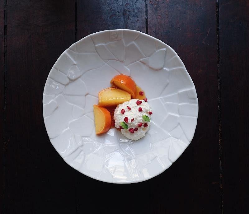 Esquina的西班牙柑桔甜点。