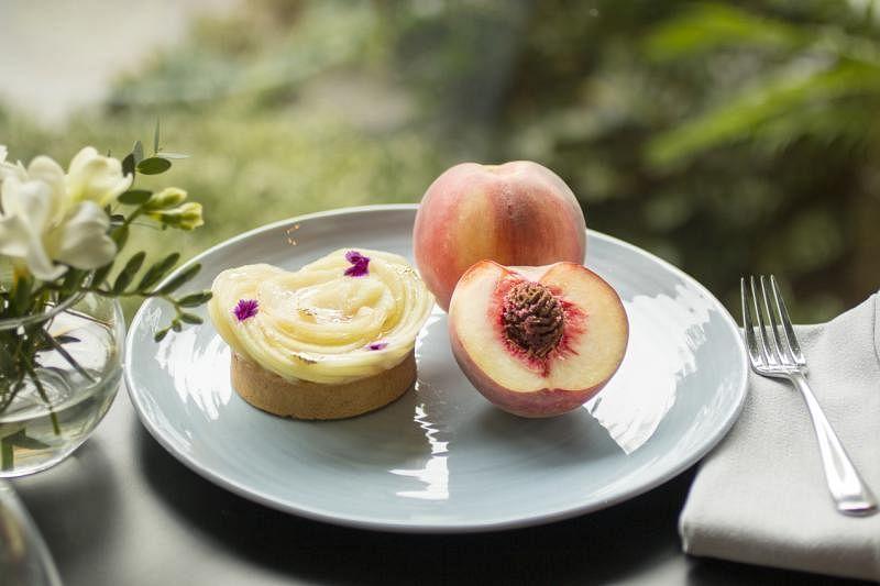 Origin Grill的澳大利亚桃子塔饼。