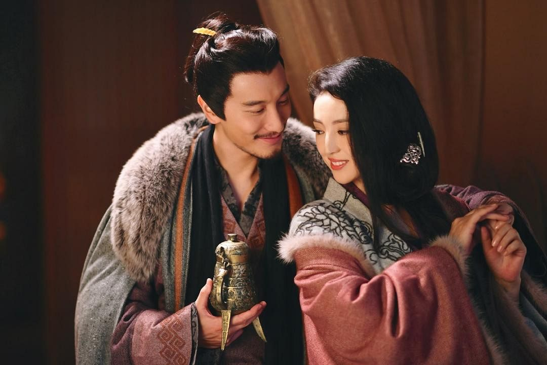 """王阳明与剧中饰演""""貂蝉""""的董璇有对手戏。"""
