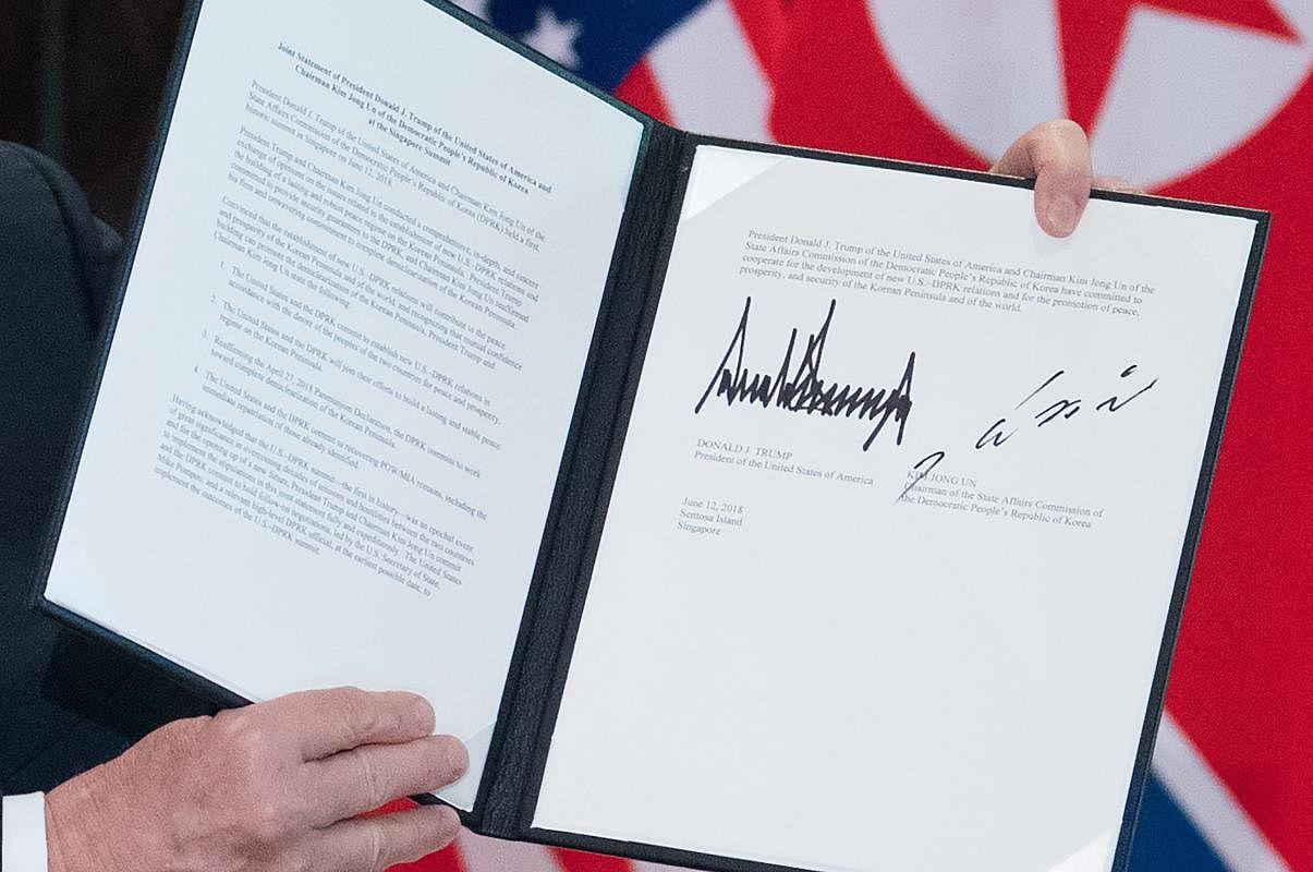 donald trump, trump-kim summit, kim jong un, joint statement