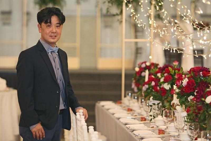 婚礼策划公司Watabe Singapore总裁兼亚洲与大洋区主管远山光一郎。(梁伟康摄影)