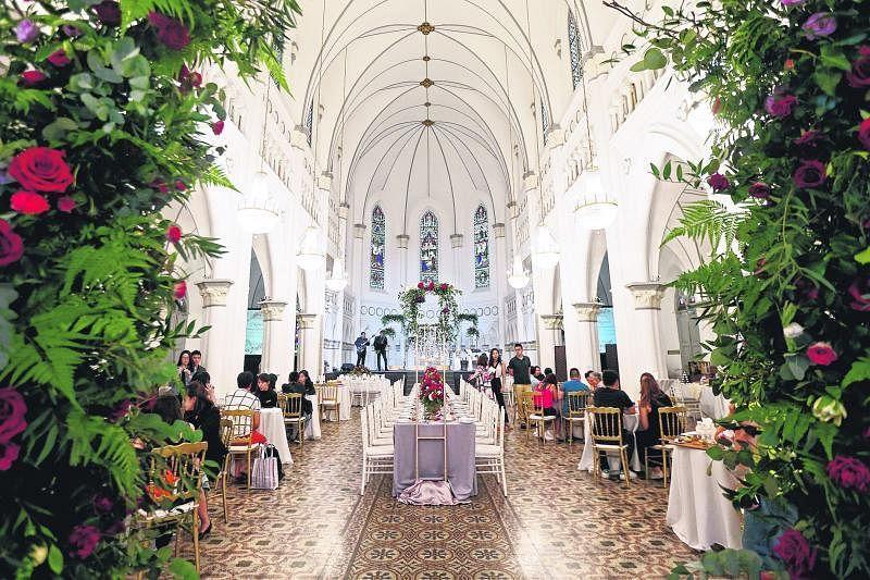 赞美广场礼堂容量约300人,适合排场中上的婚礼。(梁伟康摄影)