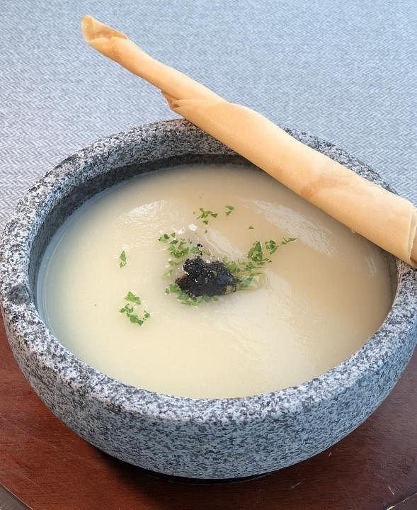 Elemen vegetarian truffle soup