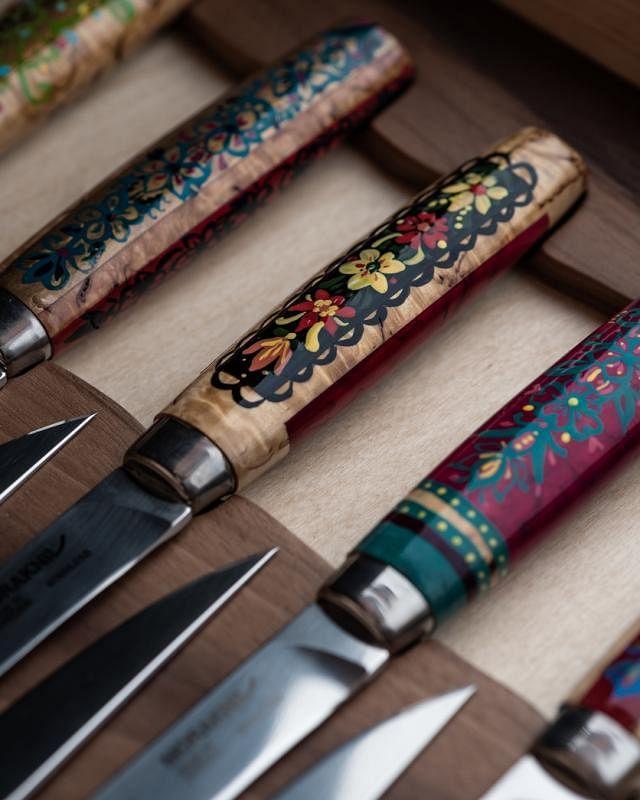 牛排切刀上的设计,透着北欧风。