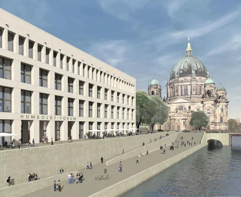德国柏林洪堡论坛建筑的效果示意图。