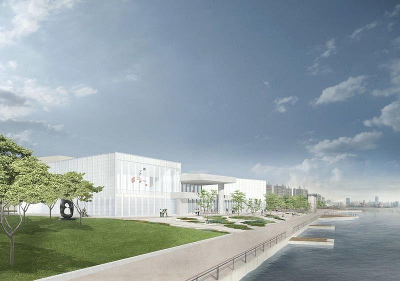 法国庞毕度中心和上海西岸集团成立的上海庞毕度中心(西岸)效果示意图。