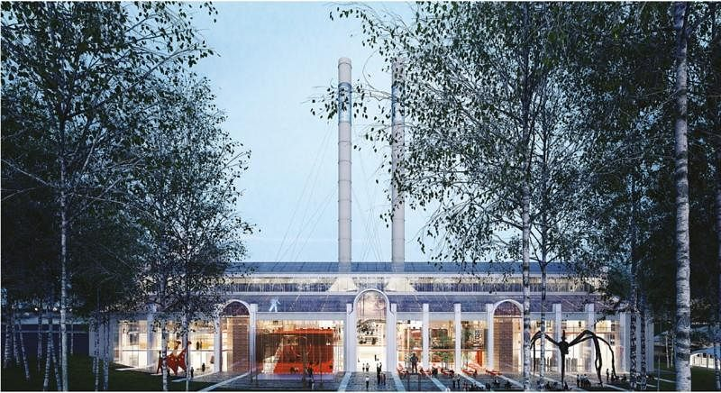 俄罗斯莫斯科GES2艺术中心(效果示意图)由电站改成。