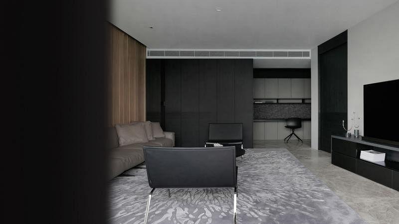 二楼客厅的选材和设计强调私密感。