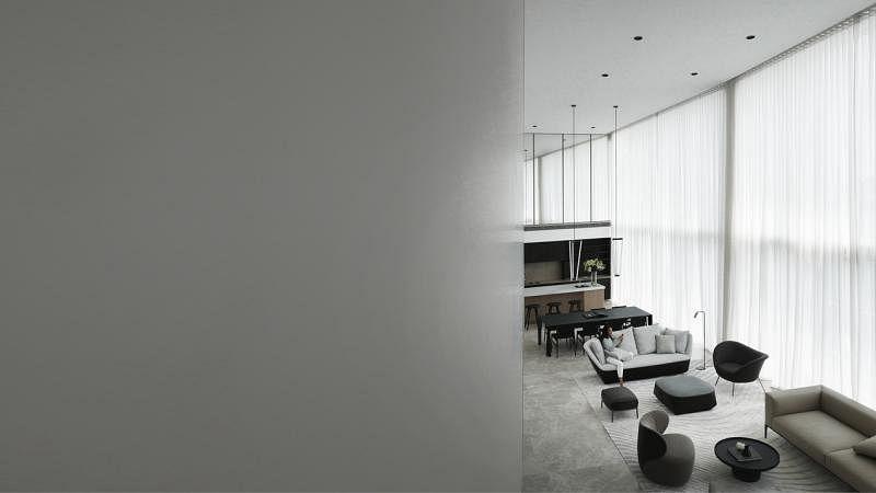 客厅设计高挑,豁然开朗。