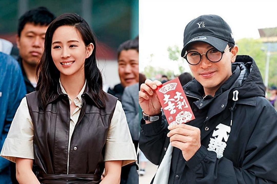 张钧甯和邱泽合作拍摄《八岁的爸爸》。(互联网)