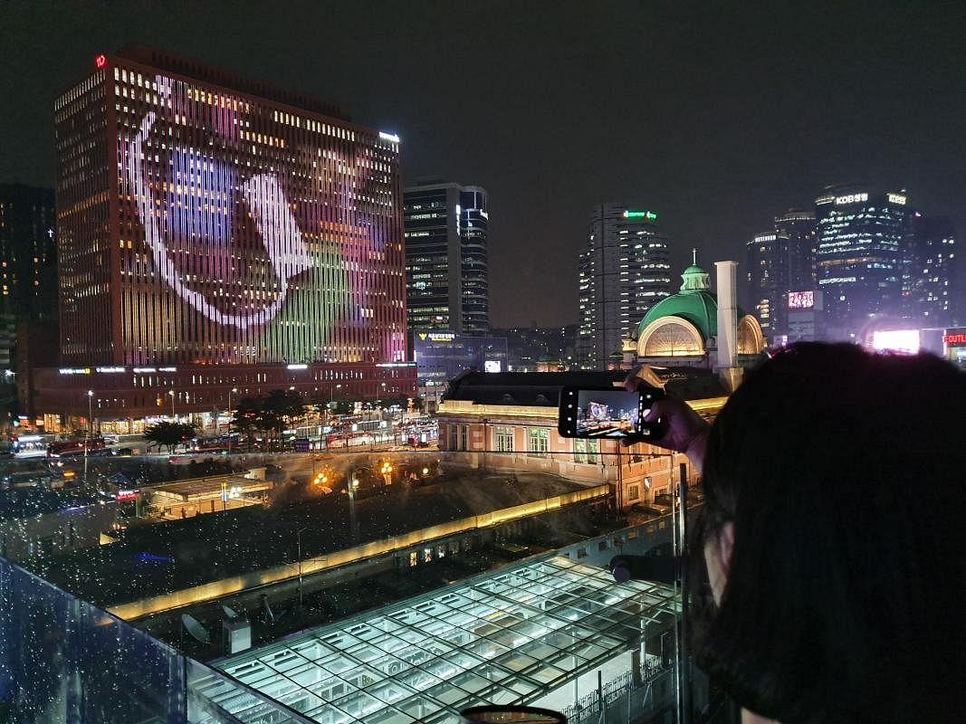 首尔路7017夜景