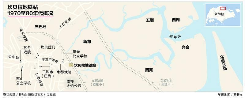 兴合村民郭钿波遥望已成一片树林的前甘榜,对面是马国柔佛巴西古当工业区。(陈爱薇摄)