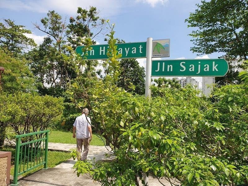 成邦大伯公宫原址在惹兰希加耶和惹兰沙甲交界处的一片树林里。(陈爱薇摄)