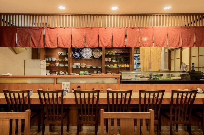 """日本餐馆""""牡丹""""的设计走传统路线。"""