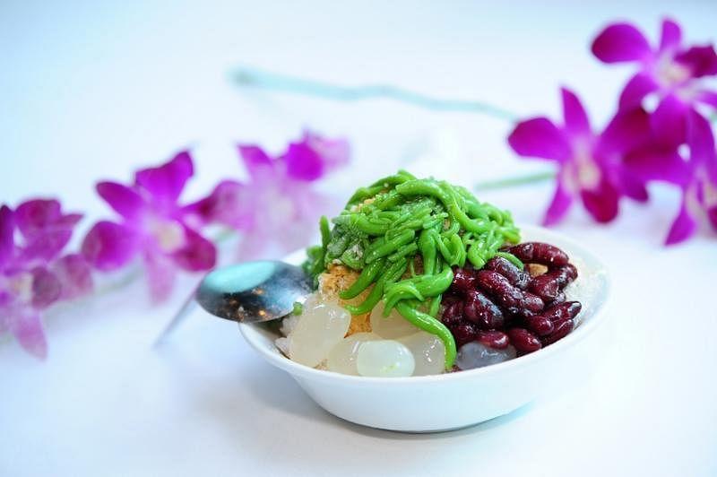 浆绿的食材丰富,软香大红豆是槟城浆绿的特色。(受访者提供)