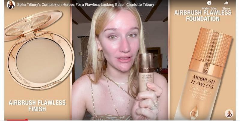 明星化妆师Charlotte Tilbury和侄女Sofia Tilbury(上图),经常在线上分享护肤和彩妆教学。(互联网)