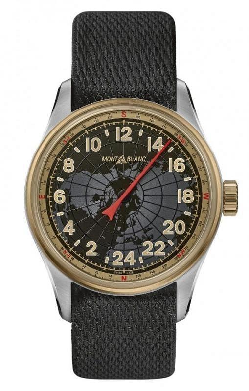 万宝龙全新1858系列24小时自动上链腕表最独特之处,在于其全新复杂功能通过红色尖头单指针指示24小时。