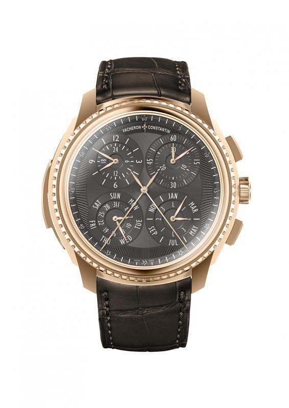 """江诗丹顿推出品牌至今融合最多复杂功能的超卓腕表杰作""""La Musique du Temps""""系列中的双面表盘复杂计时腕表。"""