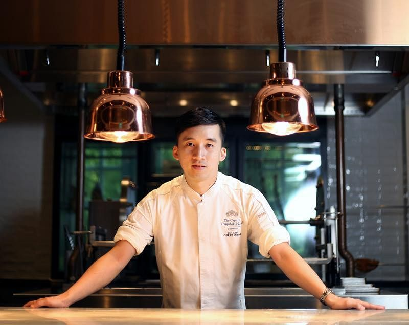 主厨萧顺鸿准备在重新提供堂食服务之后,推出新菜肴。