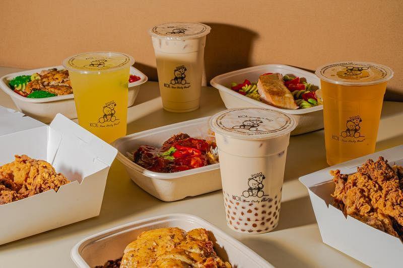 KOI跟Grain线上餐馆合作,提供泡泡茶外卖服务。