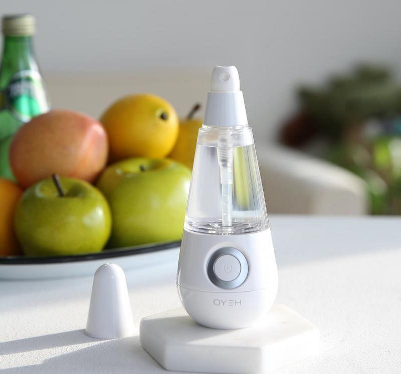 Heyo电解质水洁净器可当作搓手液,也可用来擦抹门柄桌椅。