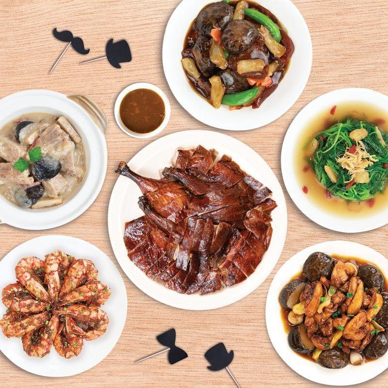 店小二的父亲节套餐包括招牌药材烤鸭,价格从五道式$88起(三人份)起。