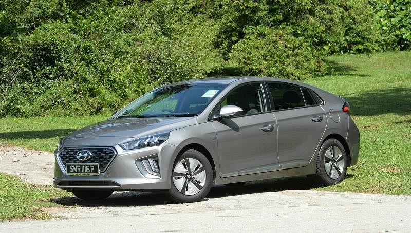 Hyundai Ioniq混合动力车。(档案照)