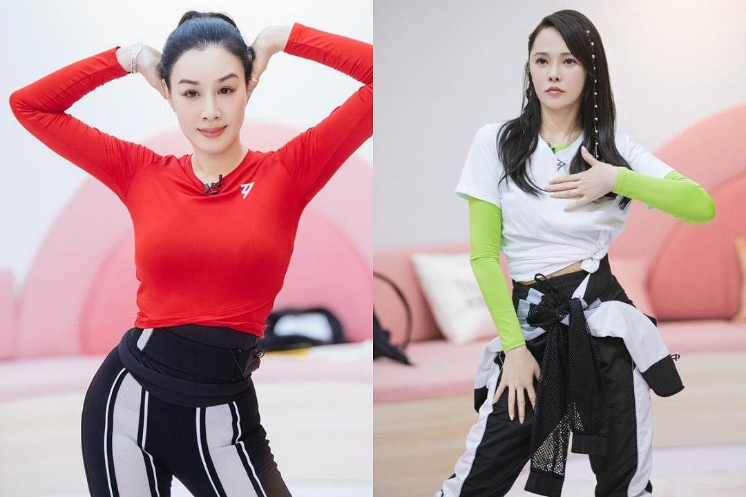 """资深女星伊能静(右)和锺丽缇都是参赛""""姐姐""""。(互联网)"""