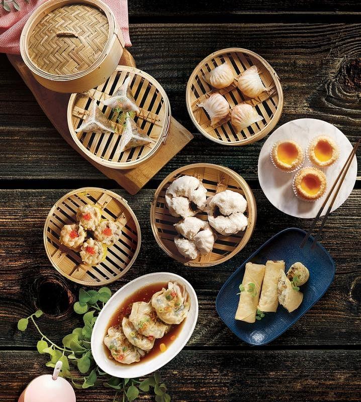 翡翠港式小厨的两至三人份点心套餐,可从10款点心中选择六款。(餐馆提供)