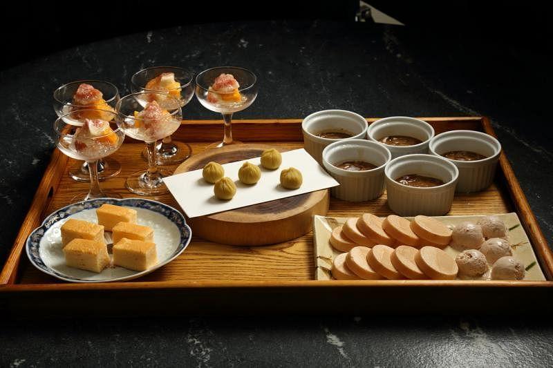 饭后来份日式甜品拼盘。