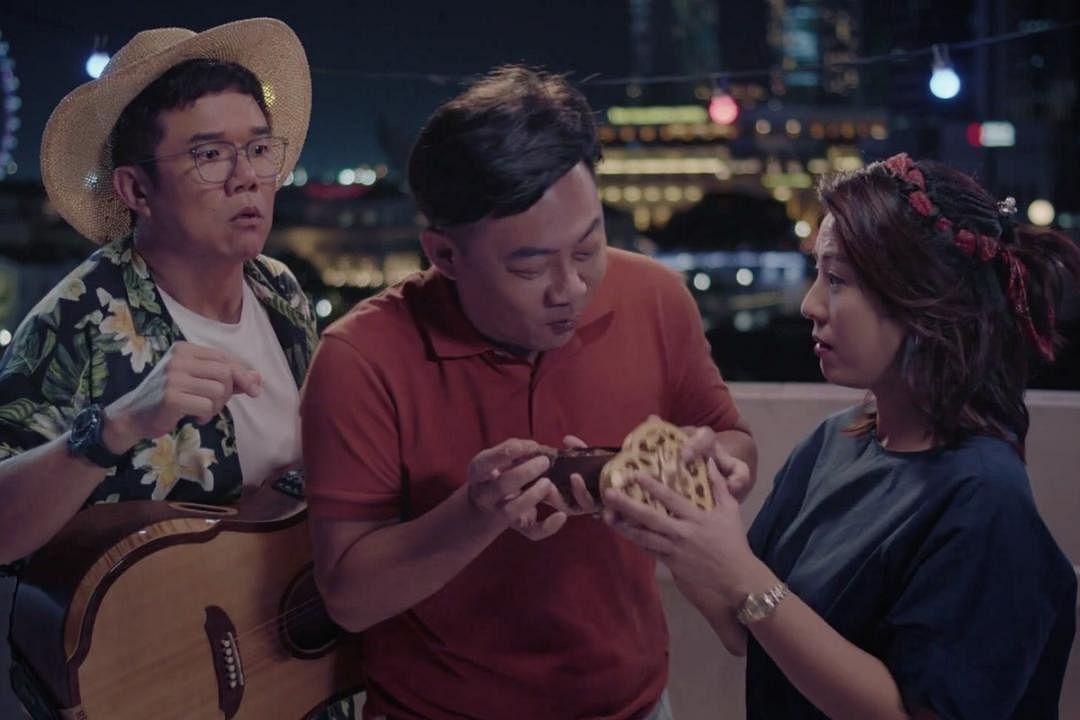苏梽诚(左起)、姚彣隆和许美珍为戏增添不少笑料。(视频截图)