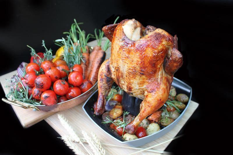 灵感源自啤酒和鸡肉的烤箱啤酒鸡。
