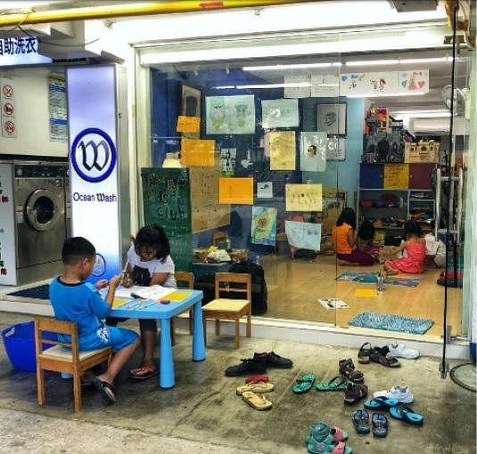 位于文礼通道176号组屋的3P Community Arts Lab去年8月起开放给小朋友,是他们熟悉且安心的创意空间。(叁南瓜提供)