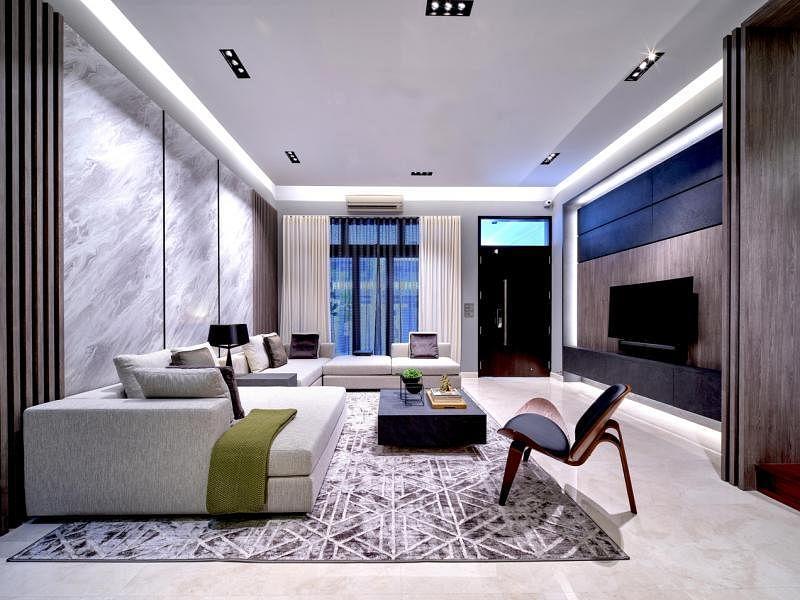 客厅家具都是设计师特制。