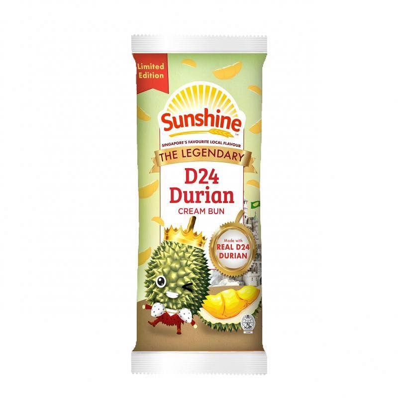 Sunshine限量版榴梿奶油面包。