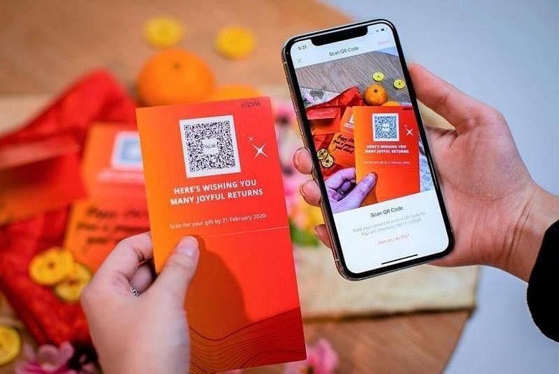 春节可透过应用派送红包。(发展银行提供)