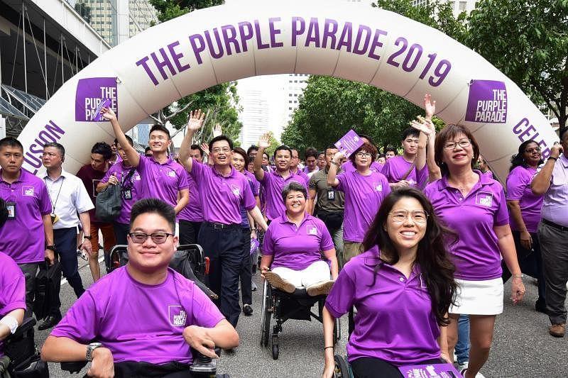 """""""紫色行动""""旨在推广包容文化,以及推动国人对特需群体的认知与鼓励。(紫色行动提供)"""